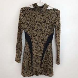 Free People Bodycon Long Sleeve Dress